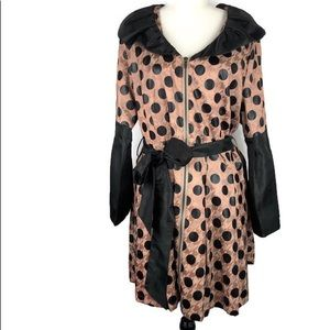 Firmiana Beige/Pink/Black Women's Trench Coat